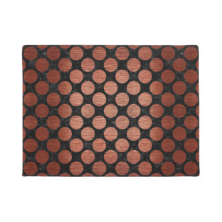 CIR2 BK MARBLE COPPER DOORMAT