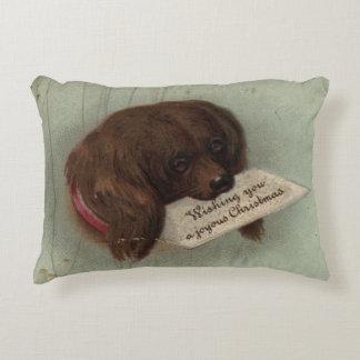 Circa 1860: A Victorian Christmas card Accent Pillow