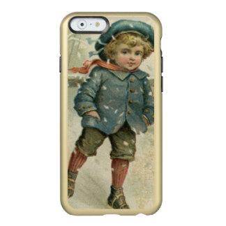 Circa 1871: A young boy skating over ice Incipio Feather® Shine iPhone 6 Case