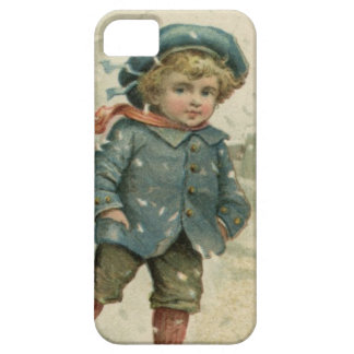 Circa 1871: A young boy skating over ice iPhone 5 Covers