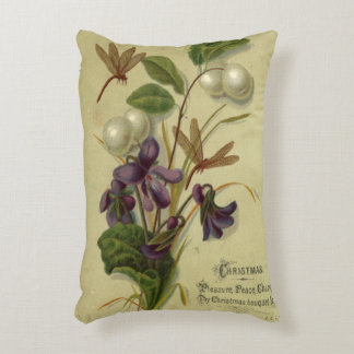 Circa 1881: Snowberries and violets Accent Pillow
