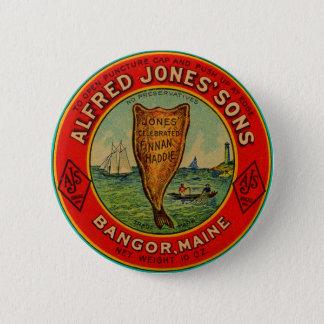 circa 1900 Alfred Jones Sons Finnan Haddie label 2 Inch Round Button