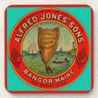 circa 1900 Alfred Jones Sons Finnan Haddie label Coaster