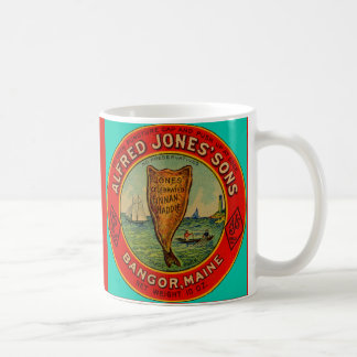 circa 1900 Alfred Jones Sons Finnan Haddie label Coffee Mug