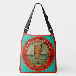 circa 1900 Alfred Jones Sons Finnan Haddie label Crossbody Bag