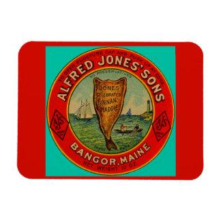 circa 1900 Alfred Jones Sons Finnan Haddie label Magnet