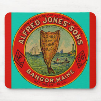 circa 1900 Alfred Jones Sons Finnan Haddie label Mouse Pad