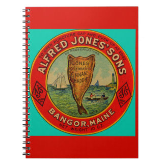 circa 1900 Alfred Jones Sons Finnan Haddie label Notebook