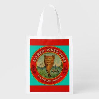 circa 1900 Alfred Jones Sons Finnan Haddie label Reusable Grocery Bag