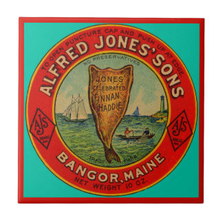 circa 1900 Alfred Jones Sons Finnan Haddie label Tile