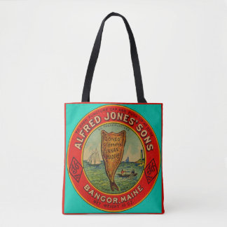 circa 1900 Alfred Jones Sons Finnan Haddie label Tote Bag