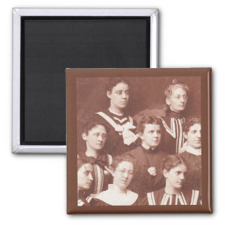 circa 1905 women's choir magnet