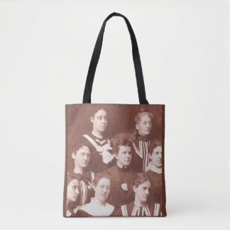 circa 1905 women's choir print tote bag