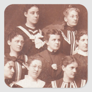 circa 1905 women's choir square sticker