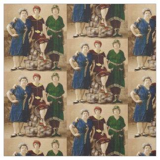 circa 1910 Atlantic City bathing beauties print Fabric