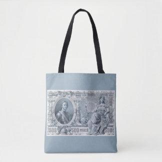 circa 1912 Tsarist Russia 500 ruble bill Tote Bag