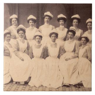 circa 1914 nursing school graduates tile