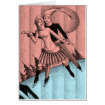 Circa 1930 Art Deco Holiday Ice Skaters Drawing Cards