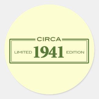 circa 1941 classic round sticker