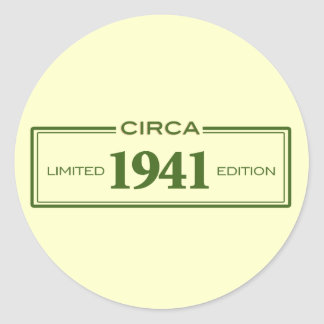 circa 1941 round sticker