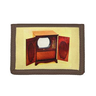 circa 1950 television set no. 1 tri-fold wallet