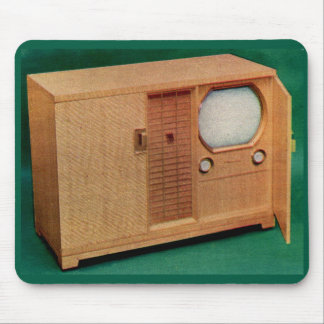 circa 1951 television set Danish modern no. 2 Mouse Pad