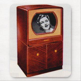 circa 1951 television set singing woman mouse pad