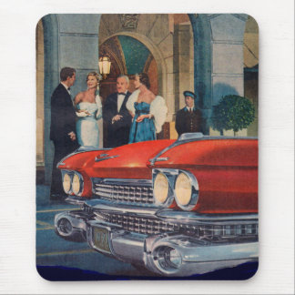 circa 1960 red Cadillac grille Mouse Pad