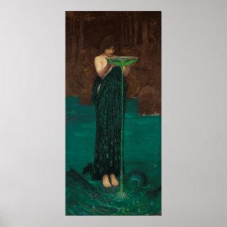 Circe Invidiosa  (1892) by John William Waterhouse Poster