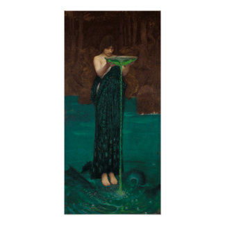 Circe Invidiosa by Waterhouse Poster