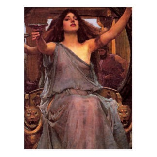 """""""Circe Offering the Cup to Odysseus"""" Postcard"""