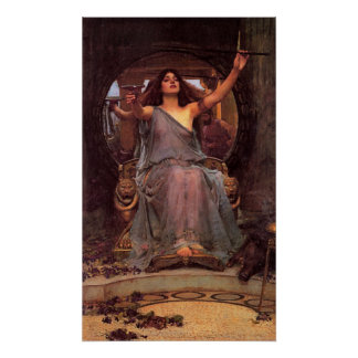 """Circe Offering the Cup to Odysseus""  Poster"
