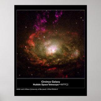 Circinus Galaxy Hubble Telescope Poster