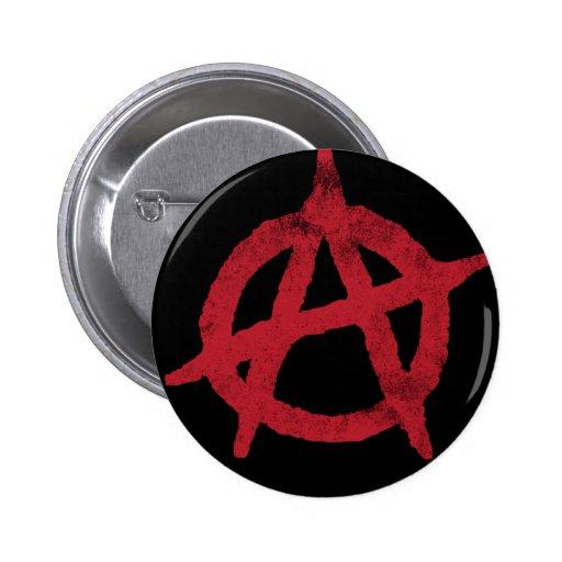 'circle a' anarchy symbol pinback button