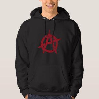 'circle a' anarchy symbol hoodie