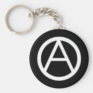 circle-a on black key chain