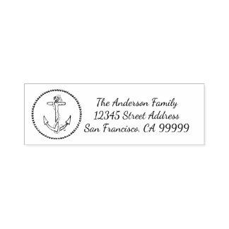 Circle Anchor - Self Inking Address Stamp