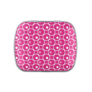Circle and a Dot Jelly Belly Candy Tin - Hot Pink