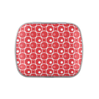 Circle and a Dot Jelly Belly Candy Tin - Red