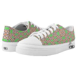 Circle and square pattern Low-Top sneakers