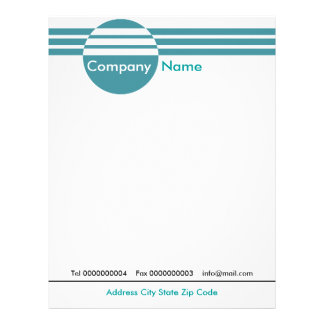 Circle And Stripes Letterhead