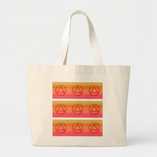 Circle and Triangle Recovery Sobriety Large Tote Bag