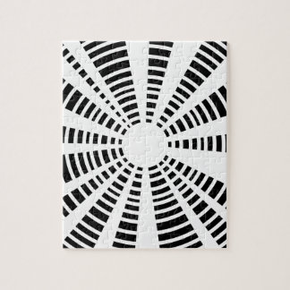 Circle Black And White Background Jigsaw Puzzle