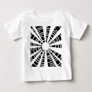 Circle Black And White Grid Baby T-Shirt