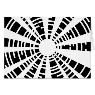 Circle Black And White Grid Card