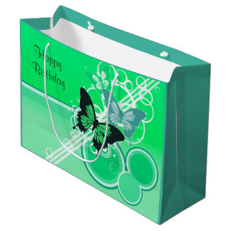 Circle Butterflies 2 Large Gift Bag