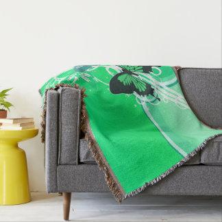 Circle Butterflies 2 Throw Blanket