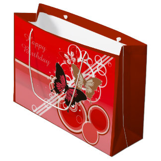 Circle Butterflies 3 Large Gift Bag