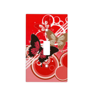 Circle Butterflies 3 Light Switch Cover