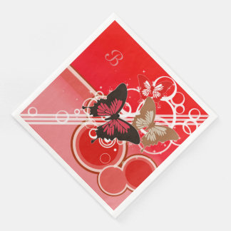 Circle Butterflies 3 Paper Napkin